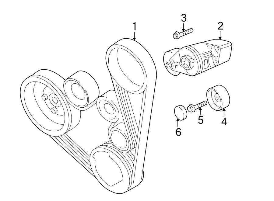 2003 volkswagen jetta wagon accessory drive belt idler pulley  roller  serpentine idler pulley