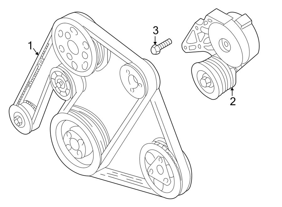 2000 Volkswagen Jetta Serpentine Belt  Doublebelt