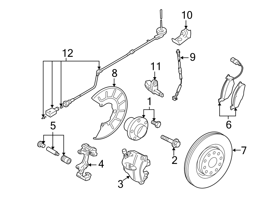 2006 Volkswagen Jetta GLI Abs wheel speed sensor wiring ...