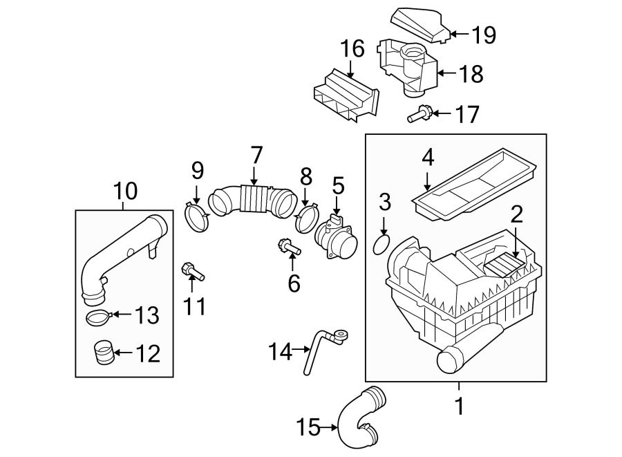 2009 volkswagen cc sport mass air flow sensor  air meter  mass air flow sensor