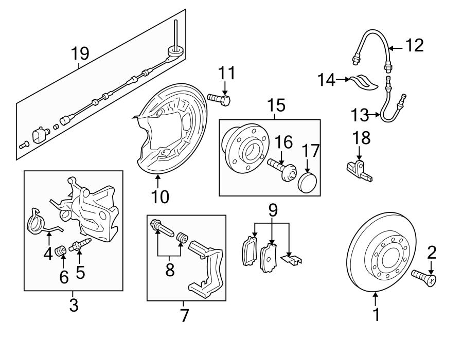 2011 volkswagen jetta abs wheel speed sensor wiring harness  suspension  brake  components