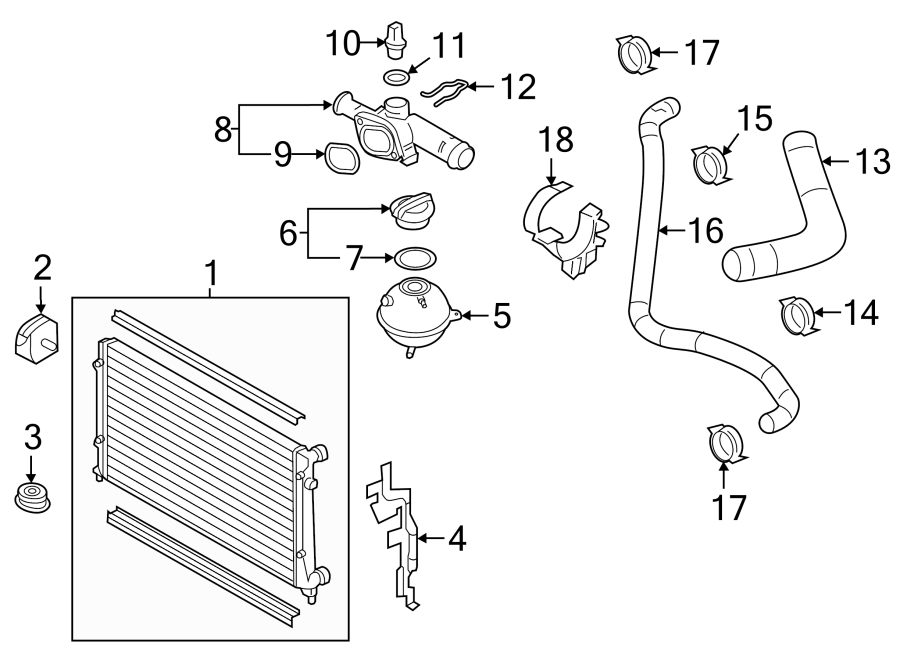 5c6121283e - air  baffle  duct  guide  front  radiator support  side