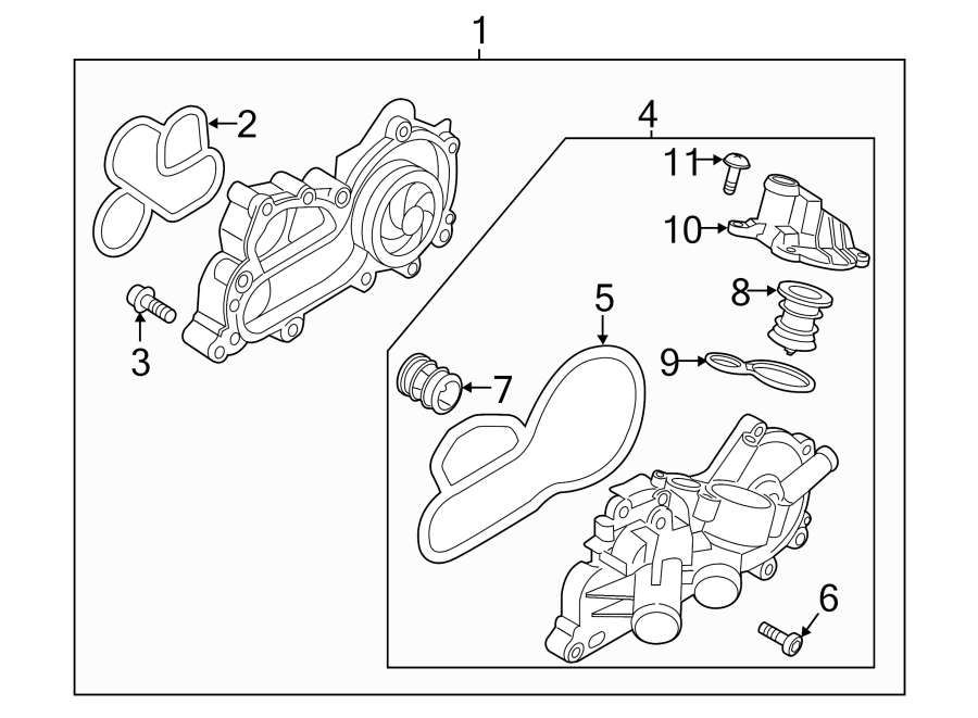 2014 volkswagen cover  engine coolant outlet flange