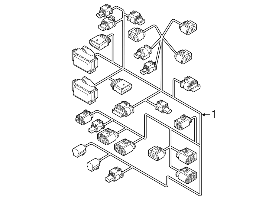 2014 Volkswagen Jetta Engine Wiring Harness  Secondary