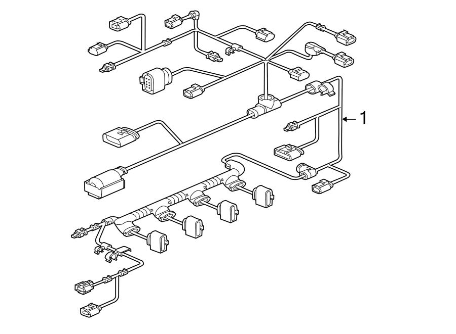 2015 volkswagen jetta gli gli se sedan 2 0l lev m  t fwd engine harness  engine wiring harness