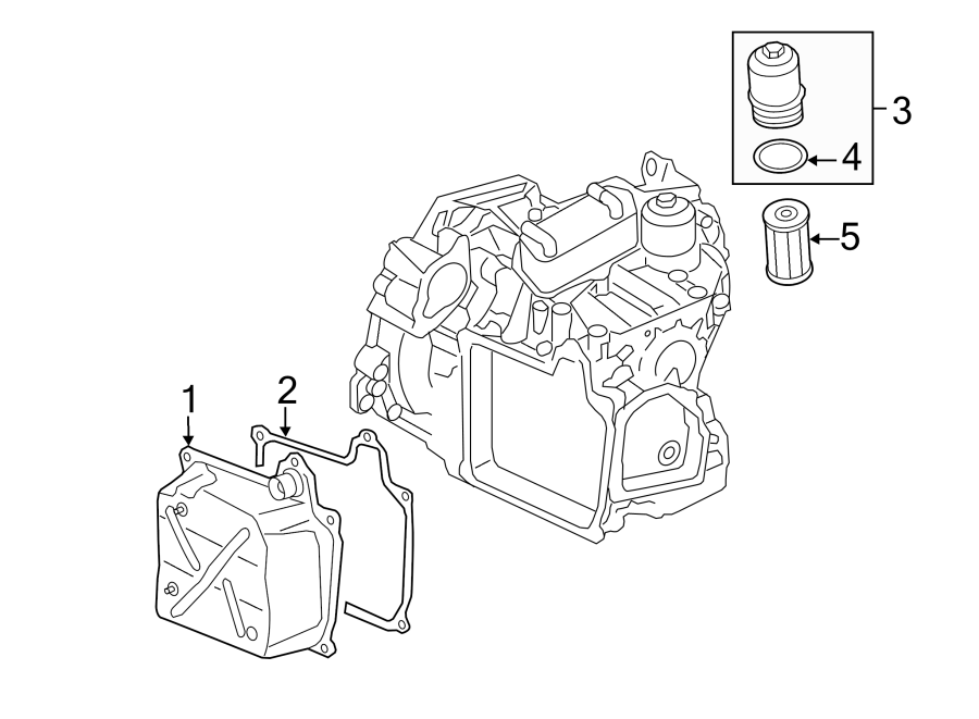Diagram ENGINE / TRANSAXLE. TRANSAXLE PARTS. for your 2010 Volkswagen Passat