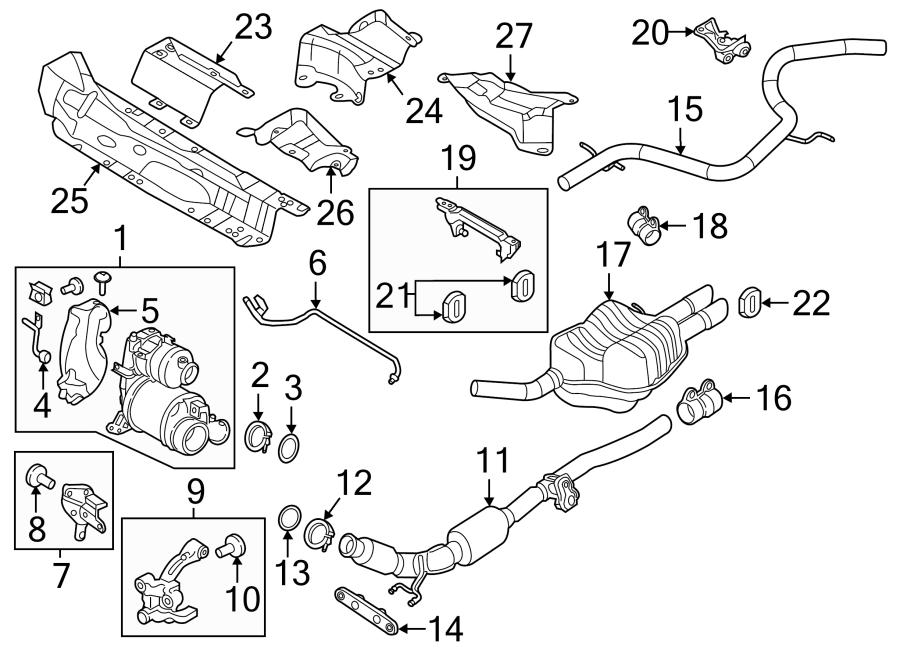 Volkswagen Jetta Diesel Particulate Filter Gasket  Exhaust Filter Gasket  Turbocharger