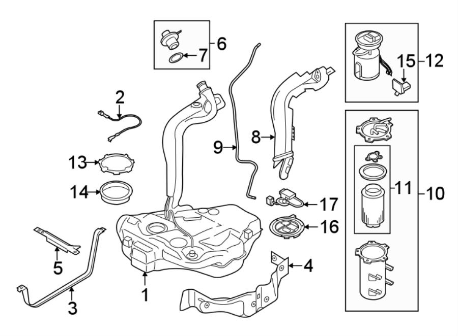 2015 Volkswagen Golf Filter  Fuel  Pump  Water Separator