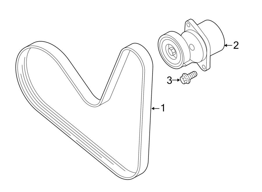 Volkswagen Jetta 1 4l Tsi M  T Accessory Drive Belt Tensioner Assembly  Code  Liter  Engine