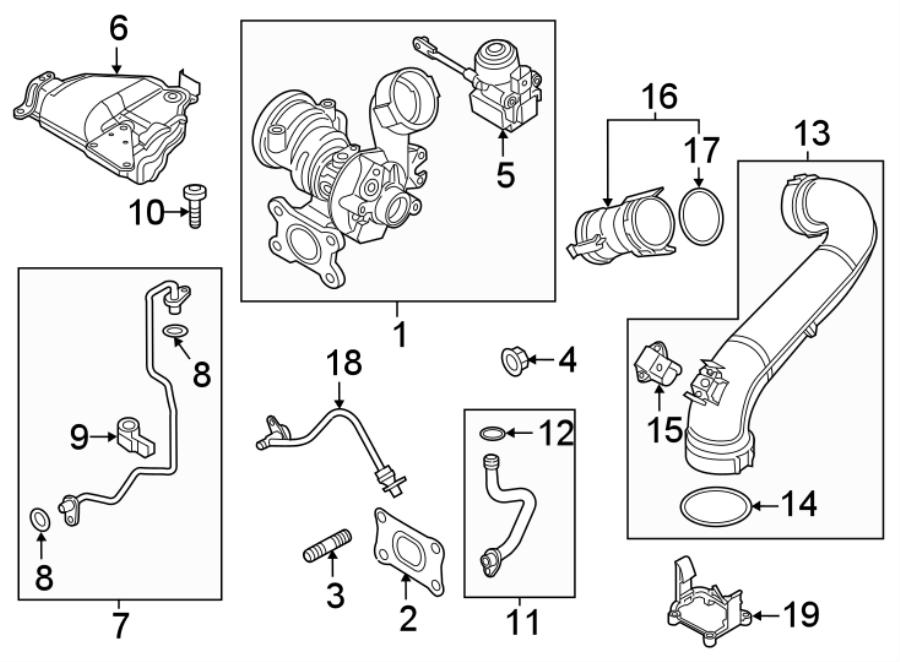 2016 Volkswagen Jetta Repair Kit  Solenoid Valve  Included