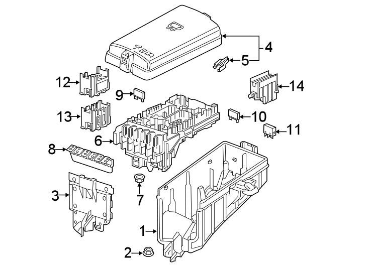 5q0937629c - Fuse  Compartment  Engine  Amp