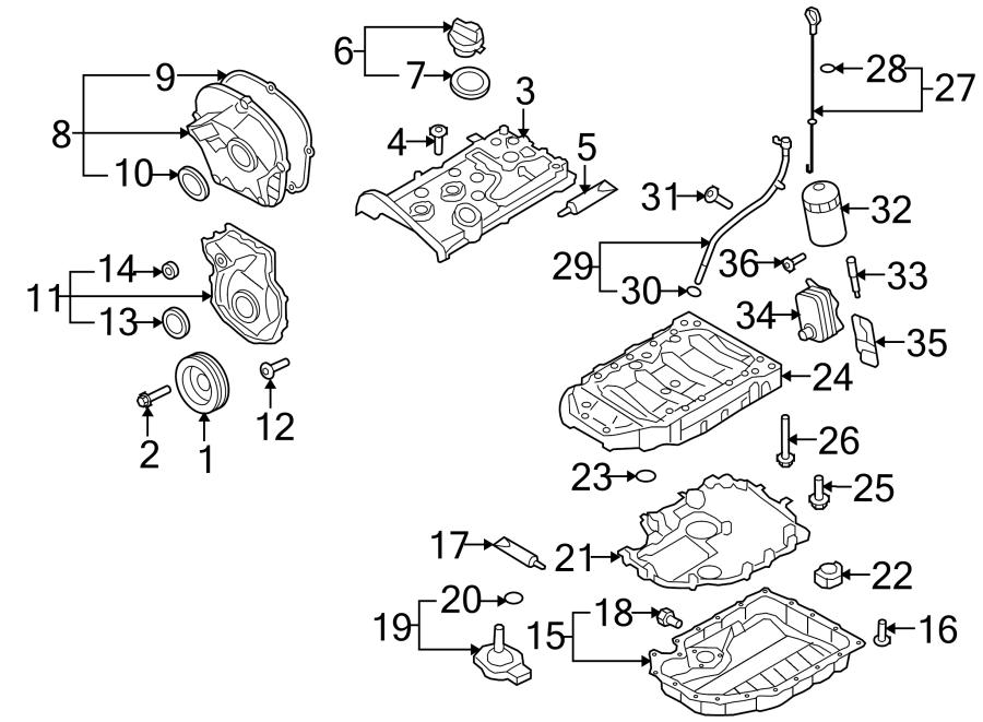 2013 Volkswagen Eos Sport Convertible 2 0l A  T Engine