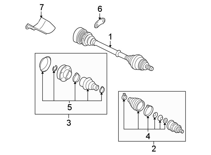1k0498103a - Cv Joint Kit  Liter  Right  Left