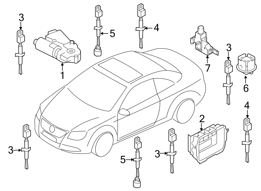 2008 Volkswagen Eos Sunroof Motor  Sunroof Motor  Replace