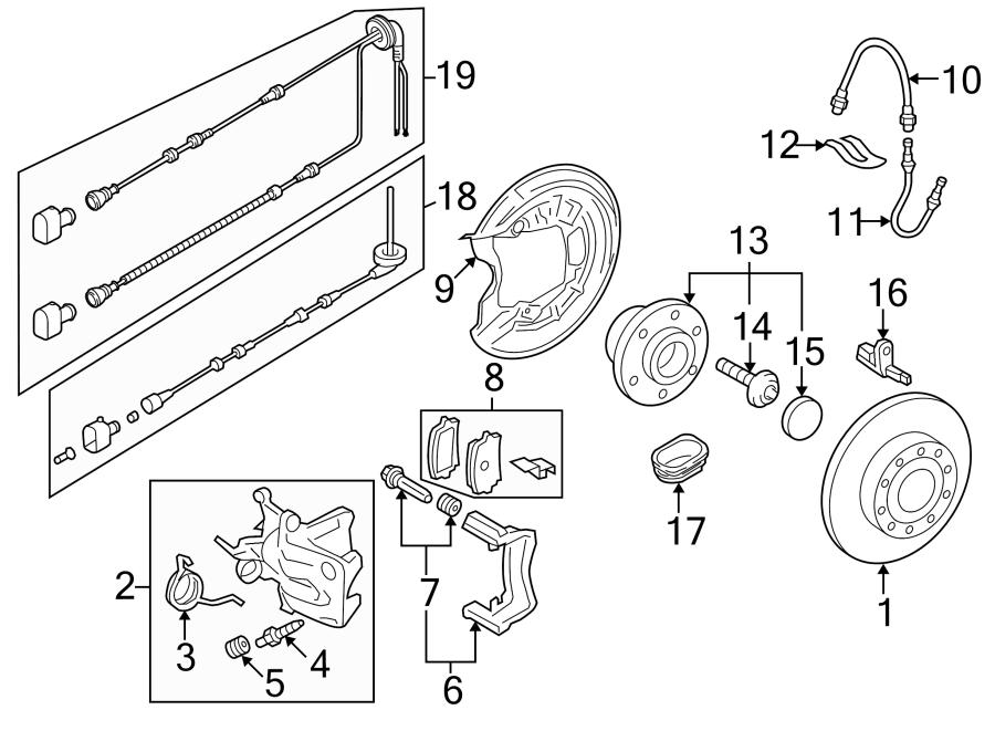 2009 Volkswagen Eos Abs Wheel Speed Sensor Wiring Harness  W  O Xenon Headlamps  W  Xenon
