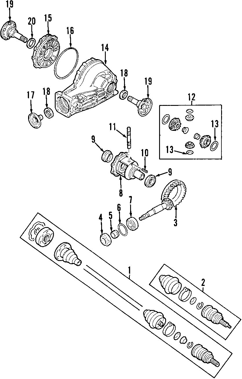 2002 Volkswagen Passat Output Shaft  Stub Shaft