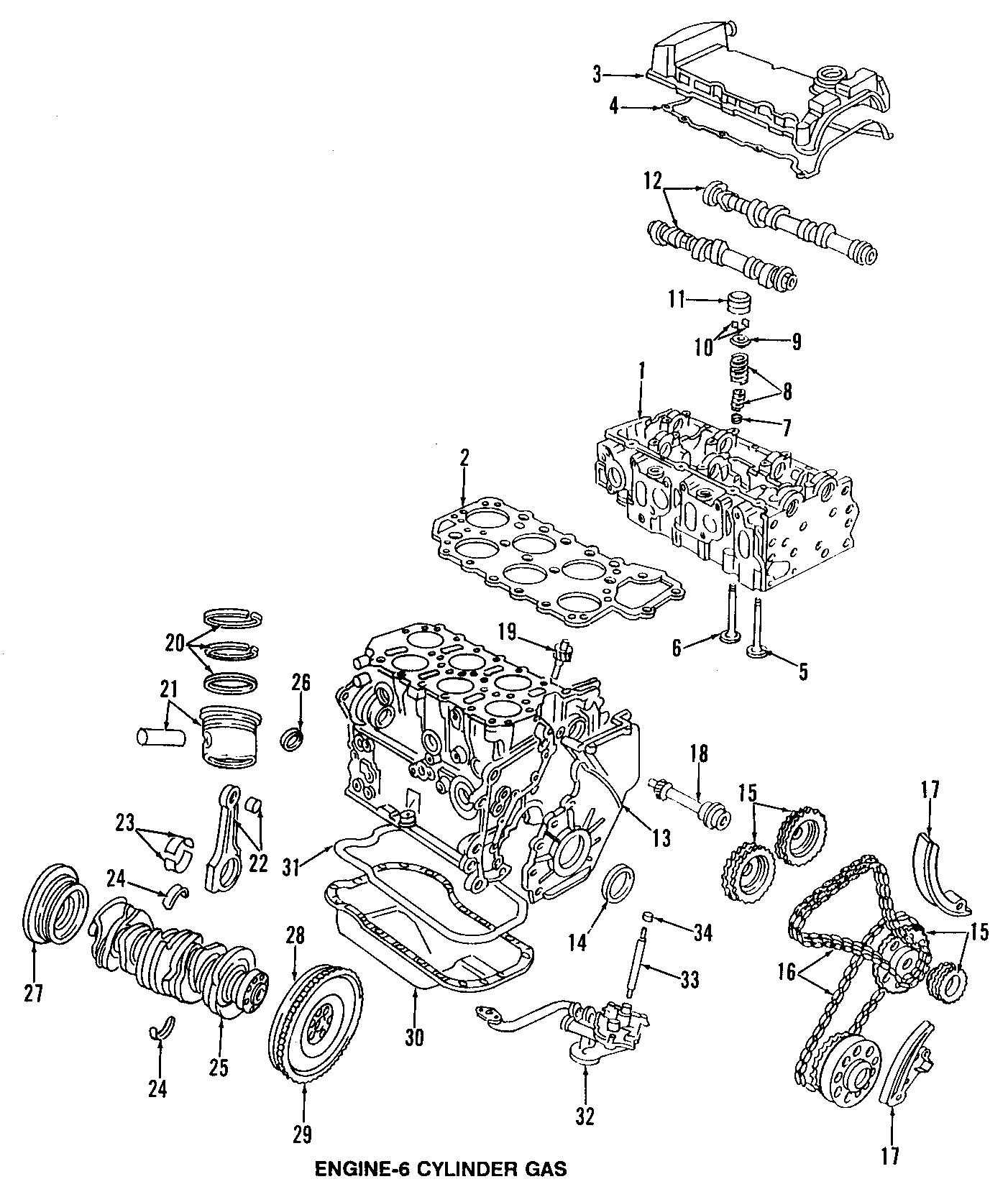 2003 Volkswagen Jetta Engine Valve Cover  2 8 Liter  W  24 Valve Engine  2003