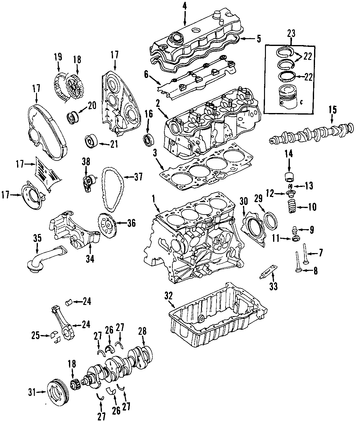 2001 Volkswagen Beetle Engine Timing Belt Tensioner