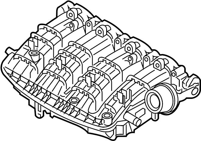 2017 volkswagen golf r intake manifold  engine  liter  gas
