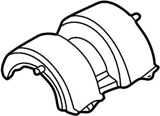 2009 Volkswagen Passat Hvac blower motor cover Heater