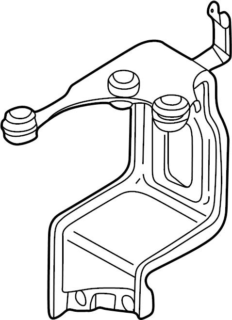 volkswagen beetle abs control module bracket  abs