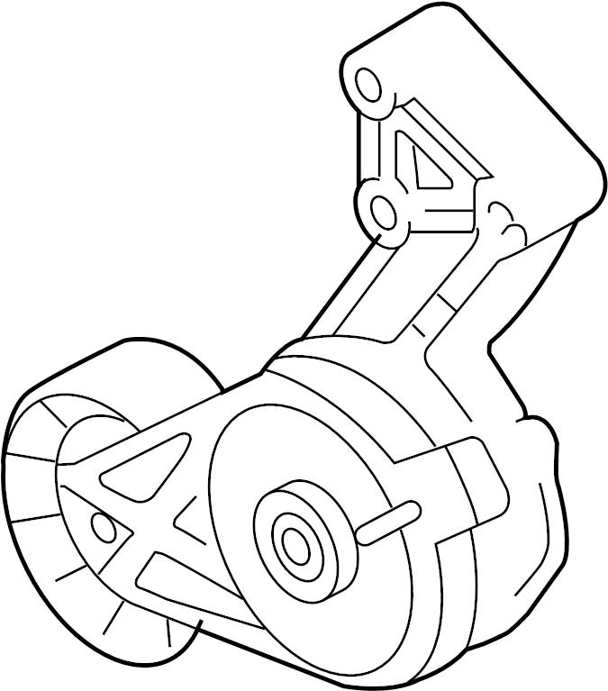 2011 volkswagen jetta belt tensioner  serpentine tensioner