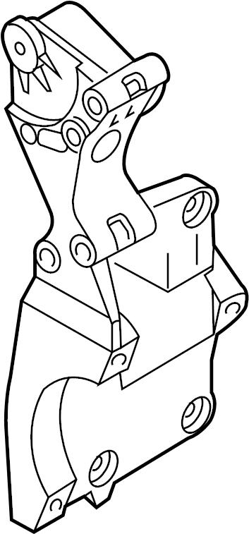 2006 volkswagen jetta alternator bracket  mount bracket