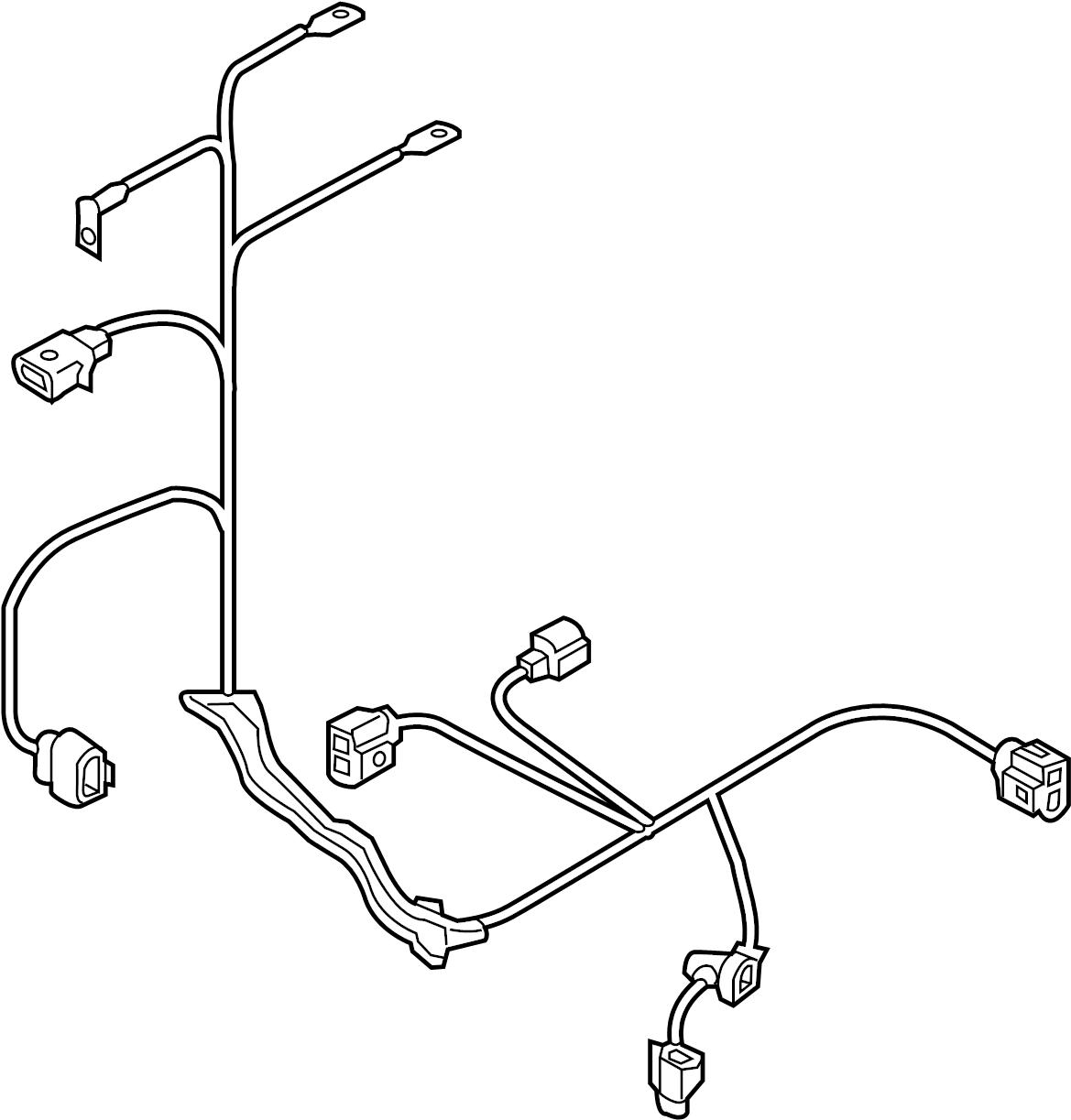 volkswagen alltrack wire harness  wiring set  1 8 liter  2