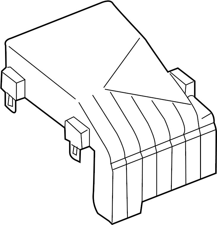 1k0937132f - fuse box cover  engine  compartment  wagon
