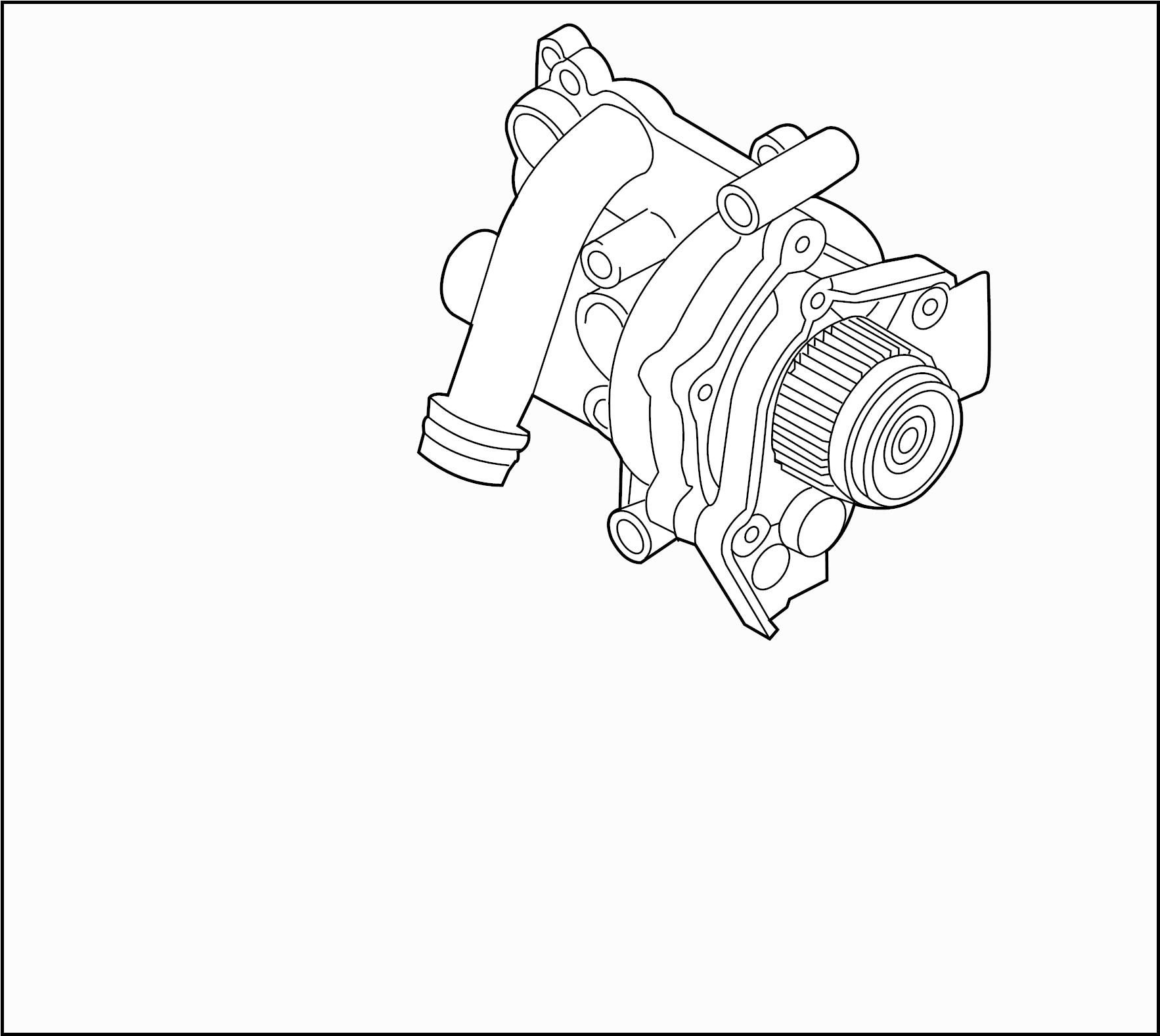 volkswagen tiguan engine water pump assembly  temic  ccta
