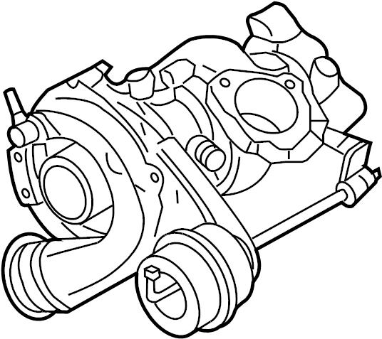2003 volkswagen golf turbocharger  liter  remanufactured  engine - 06a145713fx