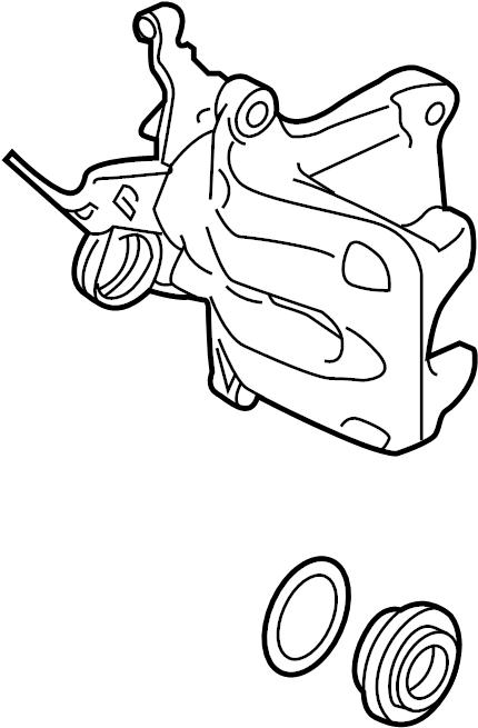volkswagen jetta tdi sedan caliper assembly  disc brake