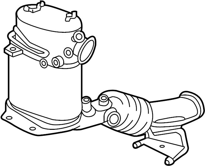 1k0254708gx - pipe  converter  exhaust   front   liter  diesel  remanufactured