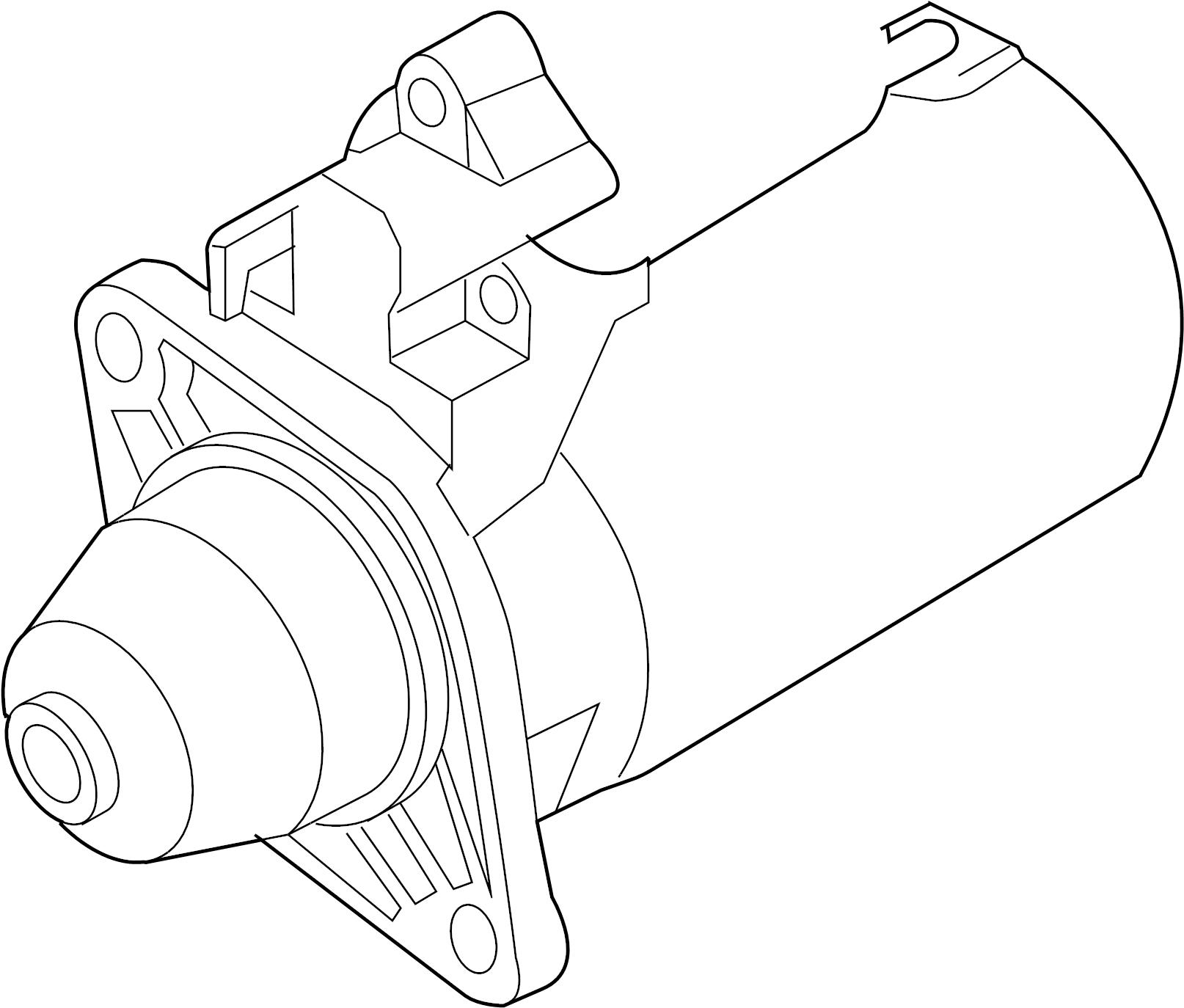 Volkswagen Phaeton Starter Motor 17 Kw From ChassisVIN    4E   5007 850 To ChassisVIN