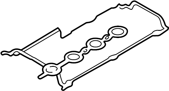volkswagen passat engine valve cover gasket  valve cover gasket set  incl spark plug tube