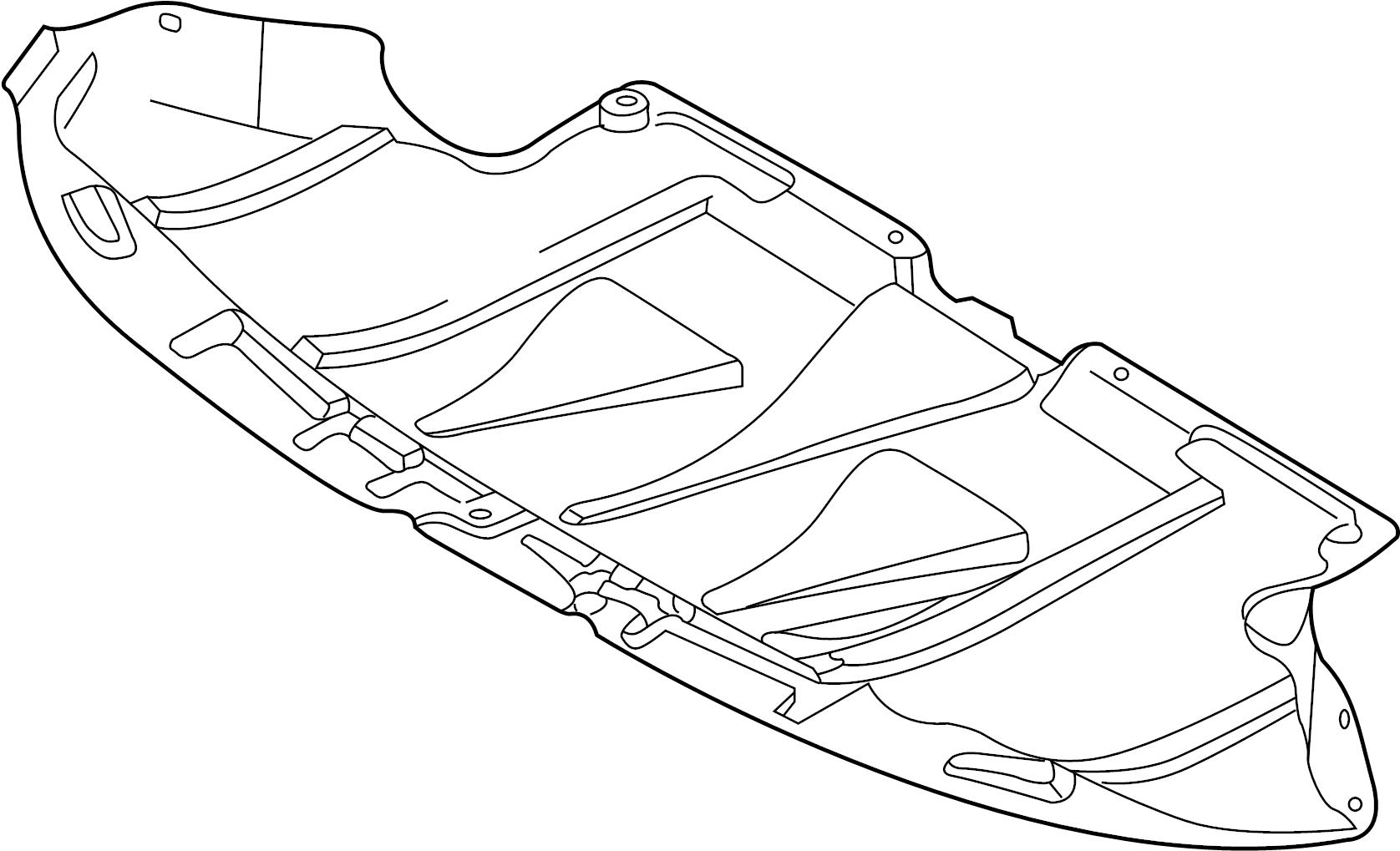 2004 Volkswagen Passat Baffle  Deflector   Front   2 0