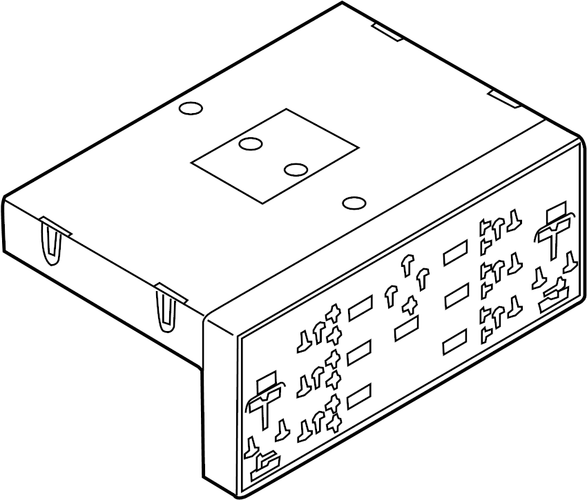 2007 volkswagen gti fahrenheit module  control  body  contour  unit  high intensity discharge