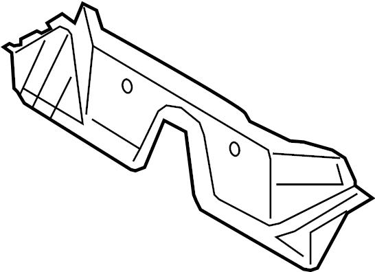 3c0803175 - crossmember   front  rear   floor  body  rails