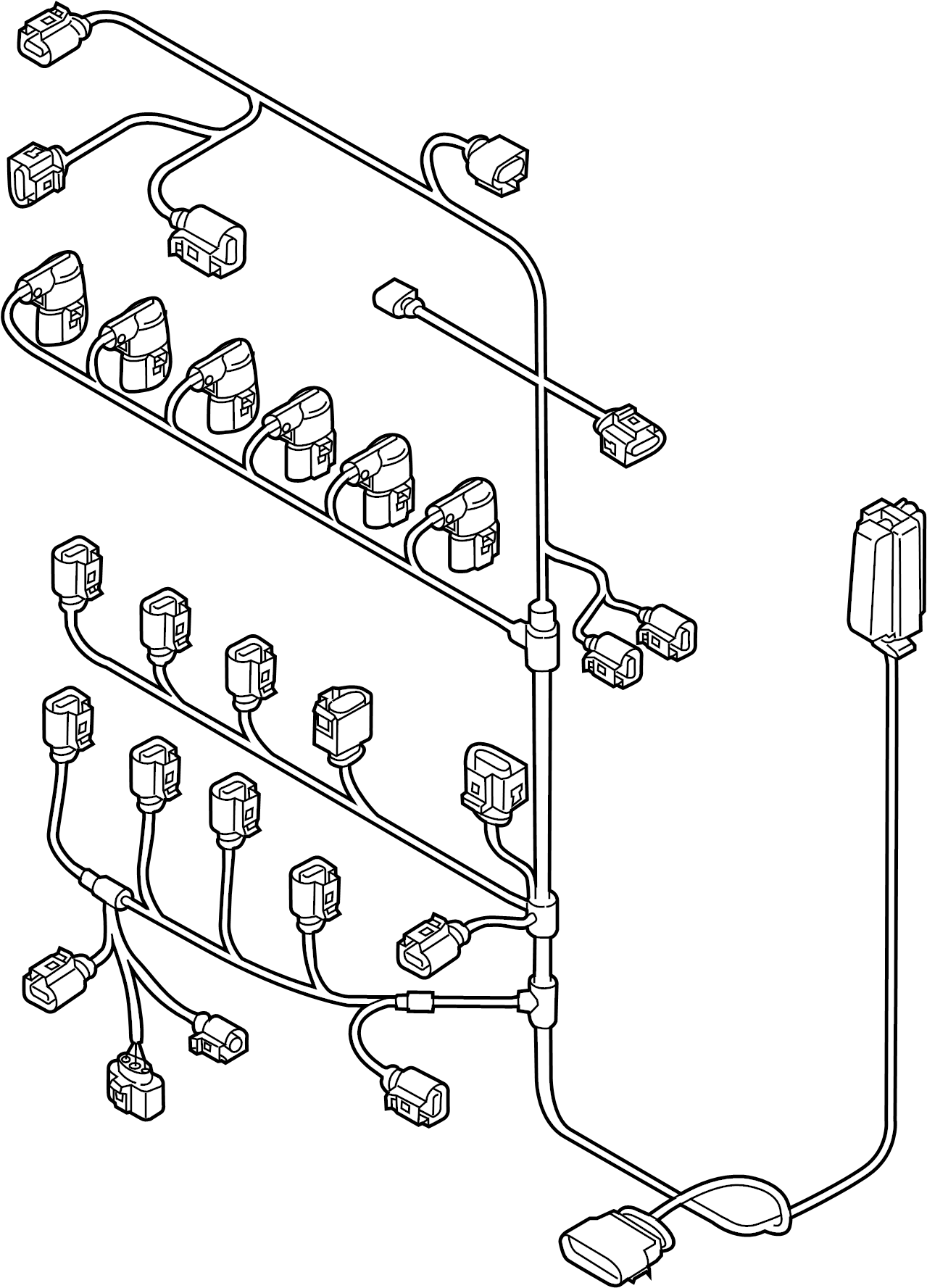 2013 volkswagen passat engine harness  engine wiring