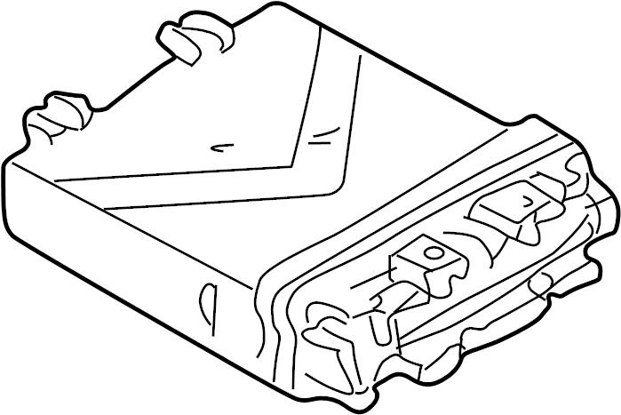 2002 volkswagen eurovan computer  contour  unit  ecm