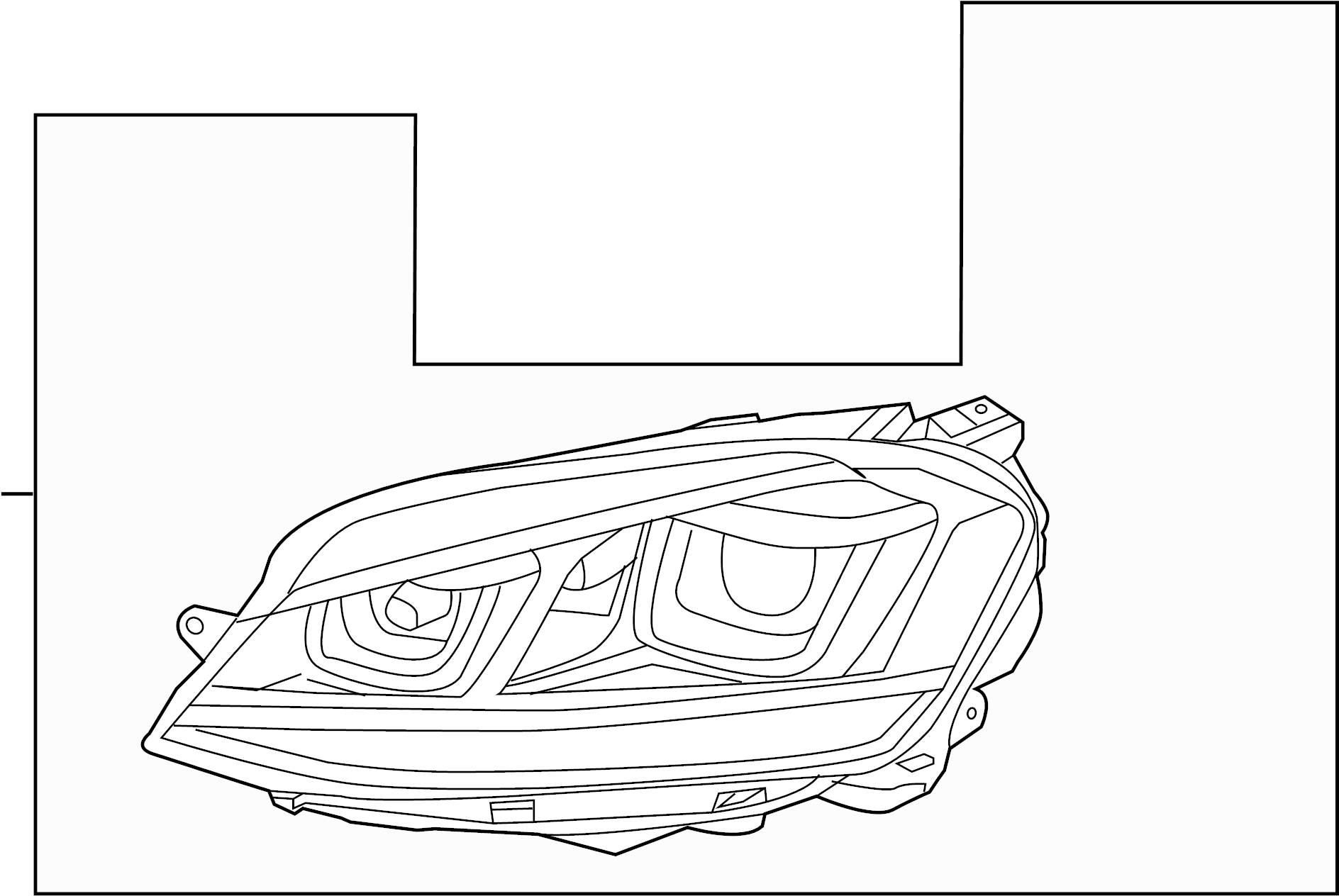 5gm941005c - headlight assembly  left  halogen  front