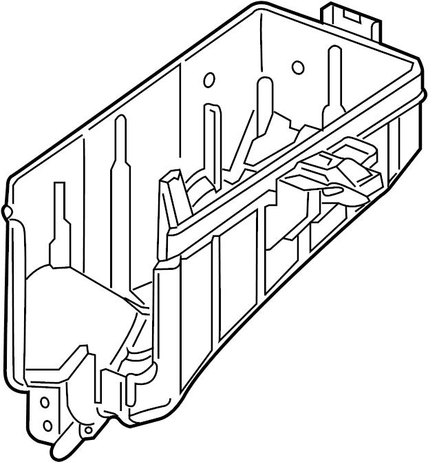 volkswagen e golf fuse box cover lower engine. Black Bedroom Furniture Sets. Home Design Ideas