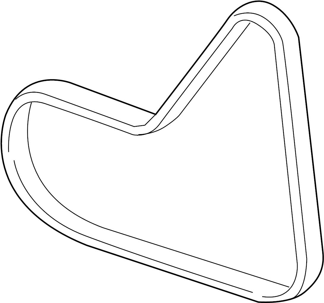 2010 Volkswagen Jetta Ac Belt  Ribbedbelt  Serpentine Belt