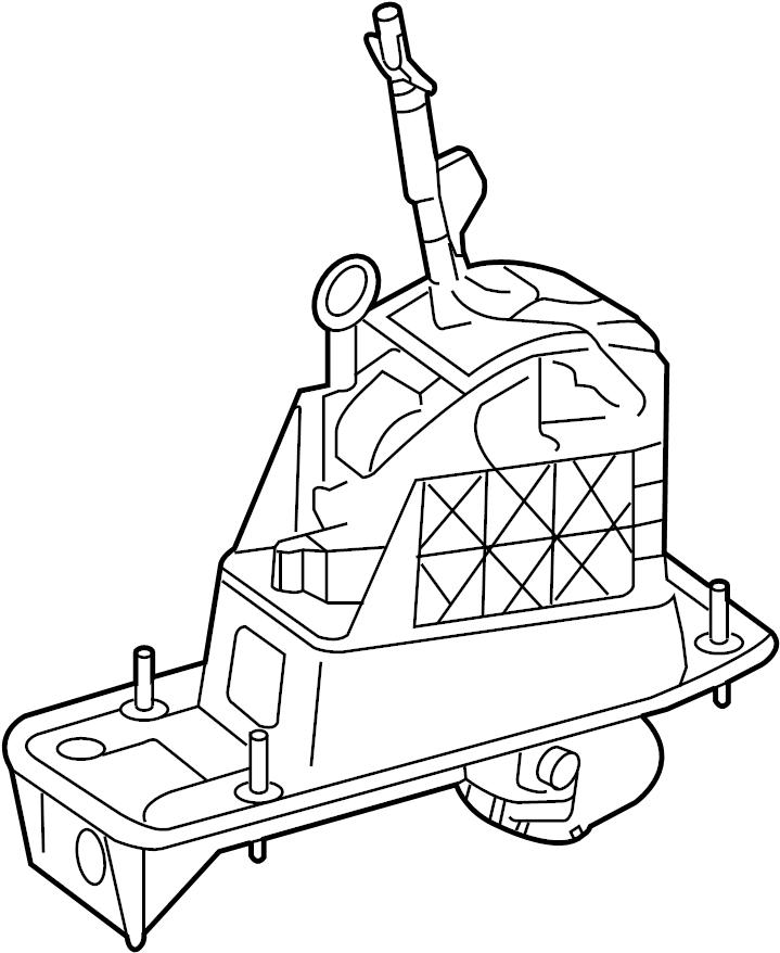 2008 Volkswagen Jetta Automatic Transmission Shift Lever