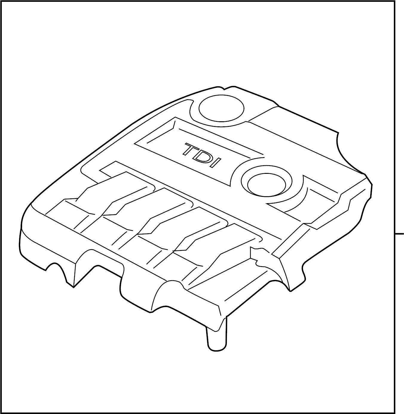 2013 volkswagen jetta gli engine cover  manifold cover