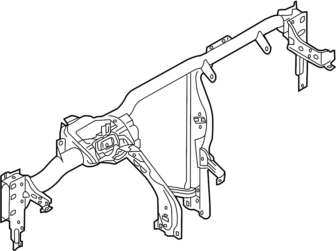 volkswagen jetta gli instrument panel crossmember  wagon