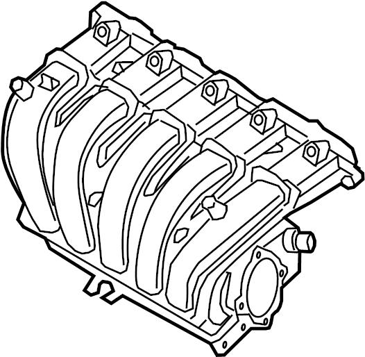 2012 Volkswagen Jetta Se Sedan 2 5l 5 Cylinder A  T Engine