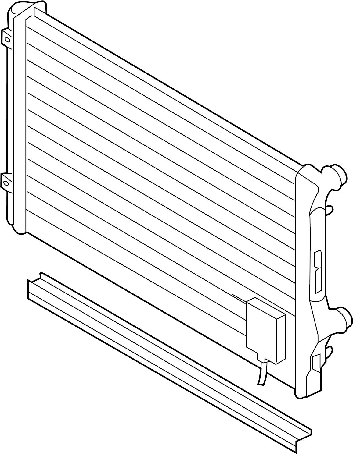 2013 volkswagen jetta gli radiator assembly  650 x 454mm
