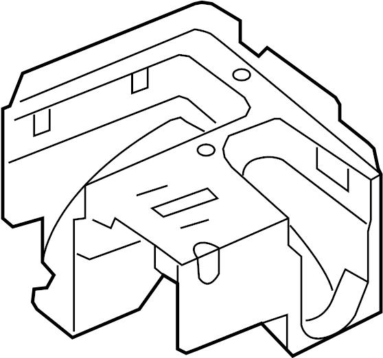 volkswagen jetta gli fuse and relay center bracket  fuse box bracket  mount bracket