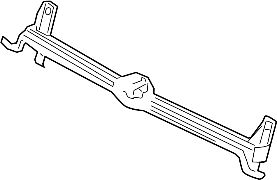 5c6805706j - radiator support bracket  upper   w  gli  w  o gli  w  o collision warning